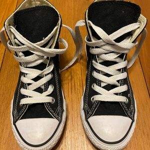 Big Kid Black & White high top Converse